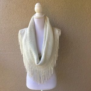 Accessories - Infinity Scarf Cream and Silver
